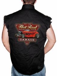 Hot Rod Garage Sleeveless Denim Shirt