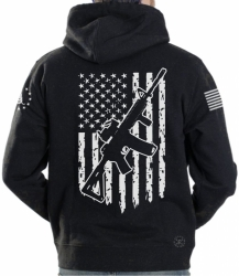 AR15 American Flag Hoodie Sweat Shirt