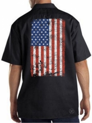 American Flag Work Shirt