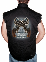 Don't Tread on Me Guns Sleeveless Denim Shirt