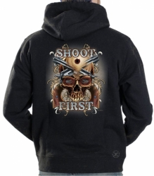Shoot First Skull Hoodie Sweat Shirt