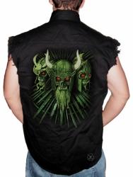 Viking Warriors Sleeveless Denim Shirt