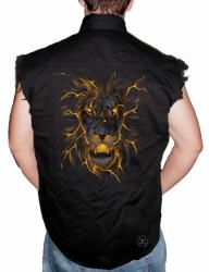 Lion Glow Sleeveless Denim Shirt