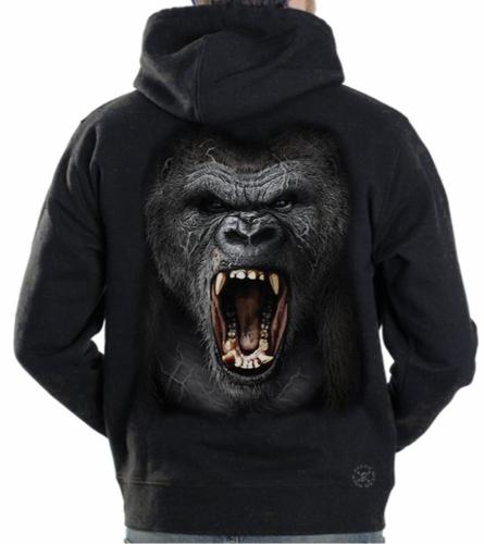 Gorilla Roar Hoodie Sweat Shirt