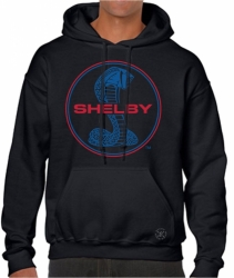 Shelby Blue & Red Hoodie Sweat Shirt