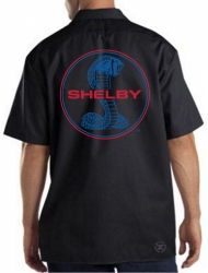 Shelby Blue & Red Work Shirt