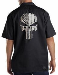 American Punisher Flag Work Shirt