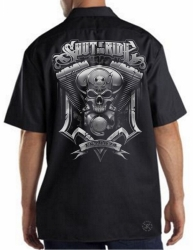 Shut Up & Ride Engine Work Shirt