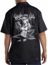 Marilyn High on Life Work Shirt