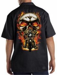 Biker Skull Work Shirt