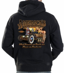 America's Highway Hot Rod Hoodie Sweat Shirt