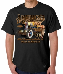 America's Highway Hot Rod T-Shirt