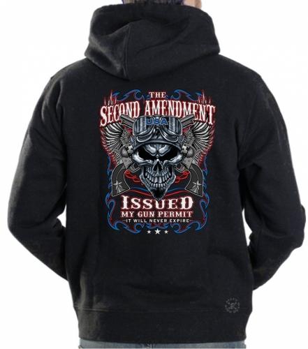 2nd Amendment Issued My Gun Permit Hoodie Sweat Shirt
