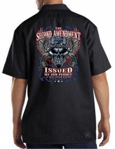 2nd Amendment Issued My Gun Permit Work Shirt