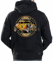 American Garage Hoodie Sweat Shirt