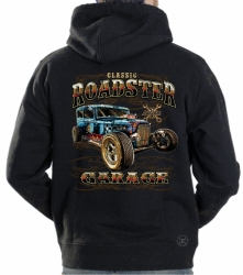 Classic Roadster Garage Hoodie Sweat Shirt
