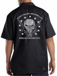 When Tyranny Becomes Law Rebellion Becomes Duty Work Shirt