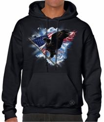 Patriotic American Eagle Hoodie Sweat Shirt