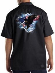 Patriotic American Eagle Work Shirt