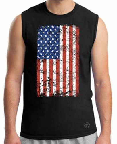 American Flag Muscle T-Shirt