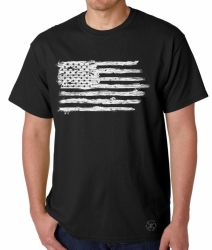 American Flag Distressed T-Shirt