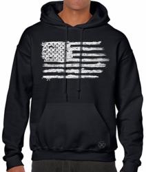 USA Distressed Flag Hoodie Sweat Shirt