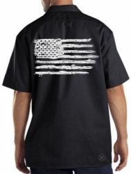 USA Distressed Flag Work Shirt