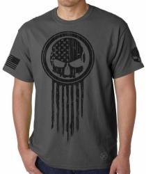 American Warrior Skull T-Shirt