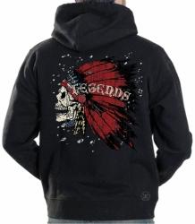 Legends Skull Headdress Hoodie Sweat Shirt