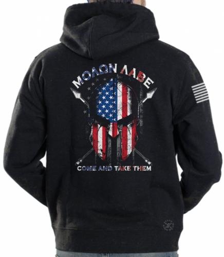 American Spartan Warrior Hoodie Sweat Shirt