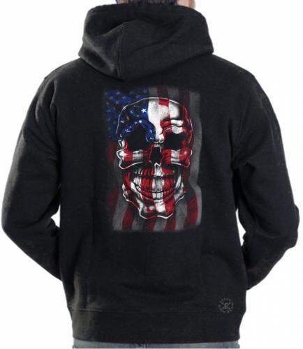 American Skull Flag Hoodie Sweat Shirt