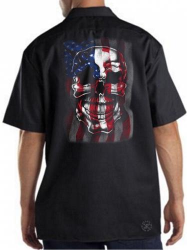 American Skull Flag Work Shirt