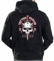 Tattoo Parlor Skull Hoodie Sweat Shirt