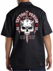 Tattoo Parlor Skull Work Shirt