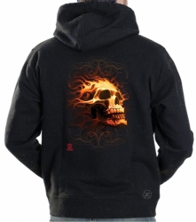 Fire Skull Hoodie Sweat Shirt