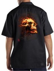 Fire Skull Work Shirt
