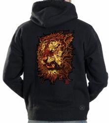 Fire Tiger Hoodie Sweat Shirt