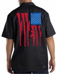 USA Gun Flag Work Shirt