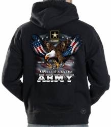 US Army Freedom Eagle Hoodie Sweat Shirt