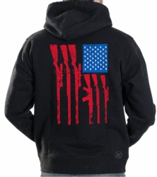USA Gun Flag Hoodie Sweat Shirt