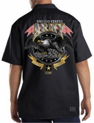 US Army Loyalty Respect Work Shirt