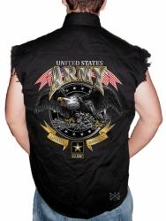 US Army Loyalty Respect Sleeveless Denim Shirt