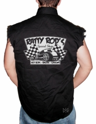 Ratty Rod's Speed Shop Sleeveless Denim Shirt