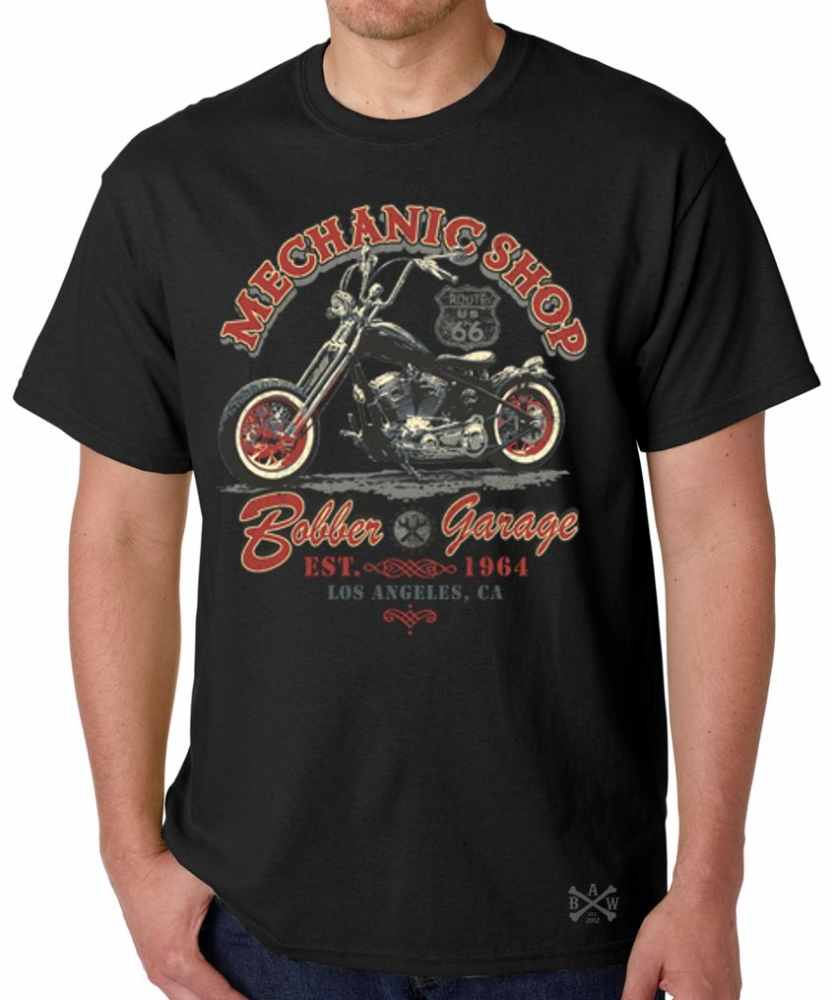 Mechanic Shop Bobber Garage T-Shirt