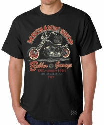 Mechanic Shop Bobber Garage T-Shirt