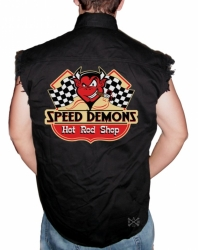 Speed Demons Sleeveless Denim Shirt
