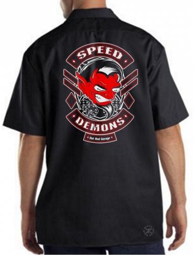 Speed Demons Hot Rod Shop Work Shirt