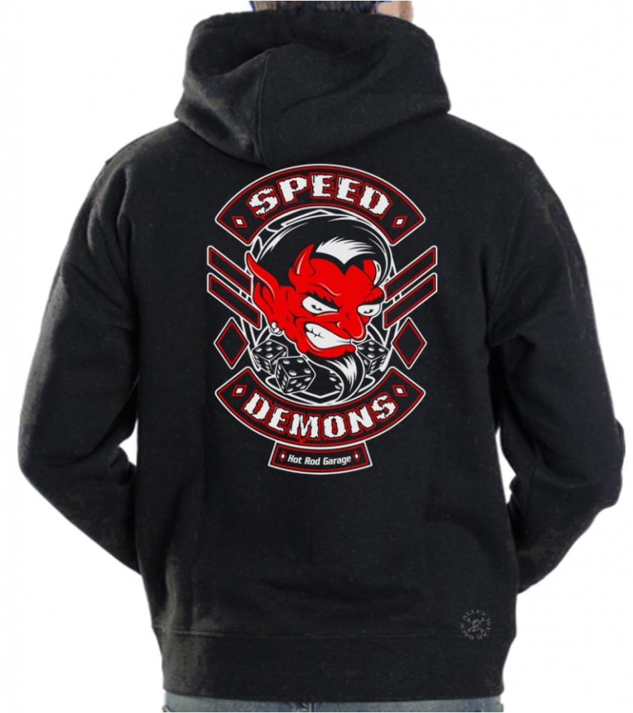 Speed Demons Hot Rod Shop Hoodie Sweat Shirt