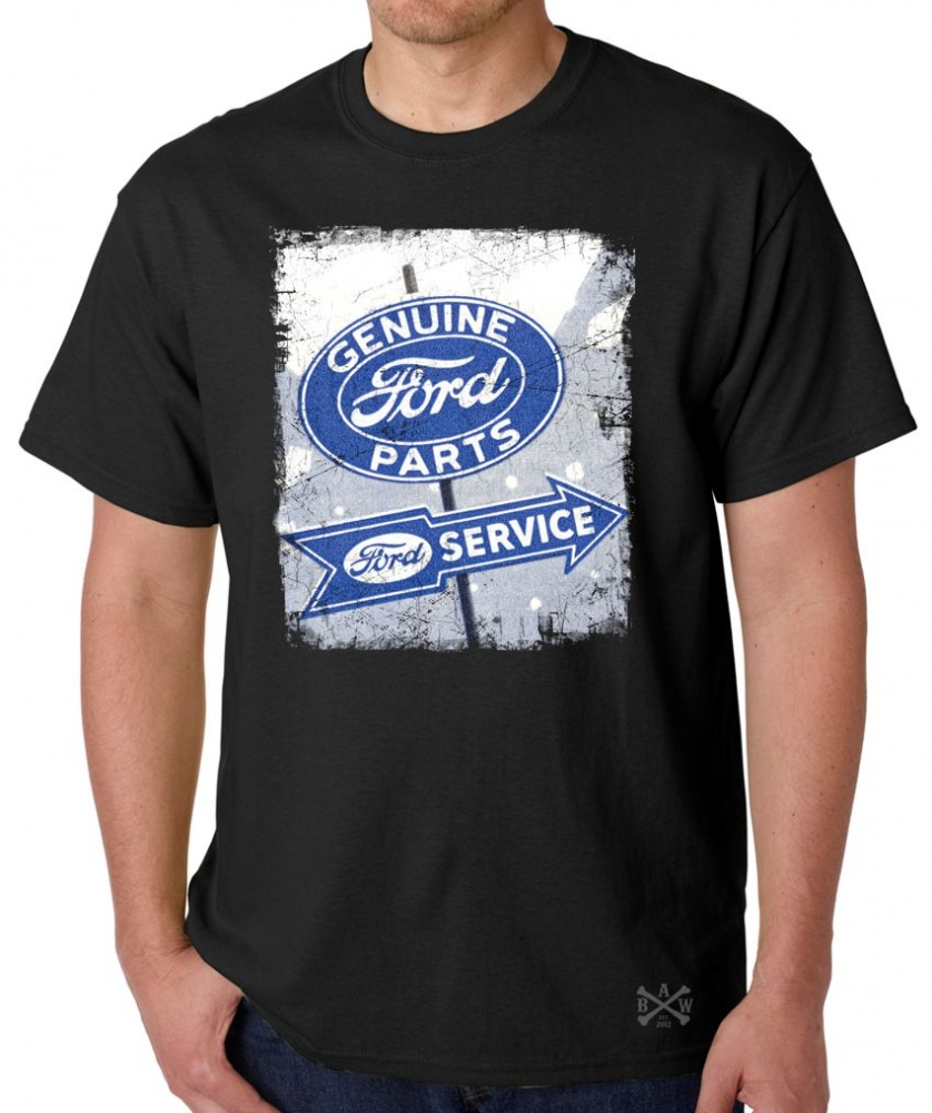 genuine ford parts sign t shirt back alley wear. Black Bedroom Furniture Sets. Home Design Ideas