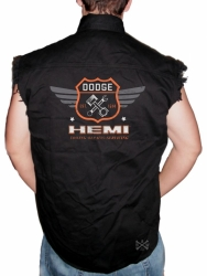 Dodge Garage Hemi Sleeveless Denim Shirt
